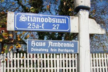 Ferienhaus Ambronia Schild